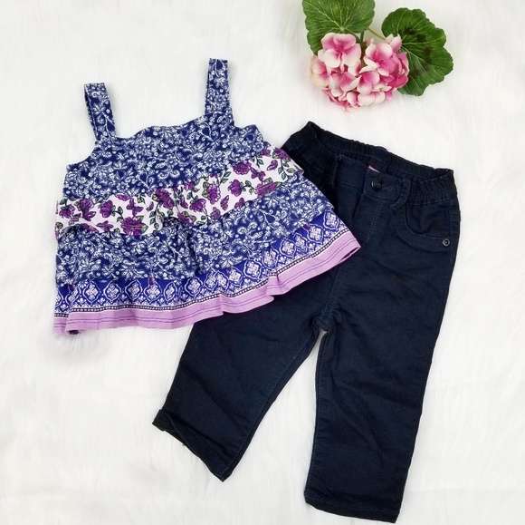 The Childrens Place Baby Girls 2 Pack Legging Set